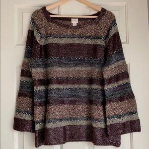 Chico's beautiful (worn x1), mixed yarn sweater, 3